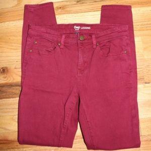 Gap Garnet Skinny Jean Legging Size 2/26 EUC